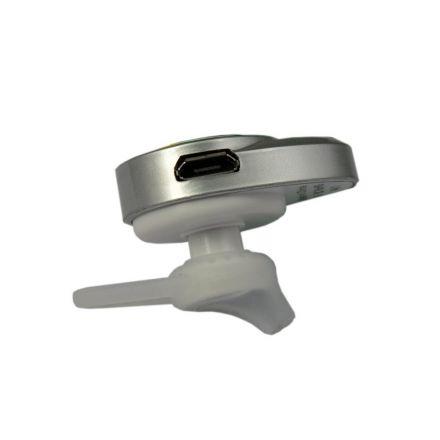 Bluetooth слушалка Doolike Mini A1 / Сиво Бял