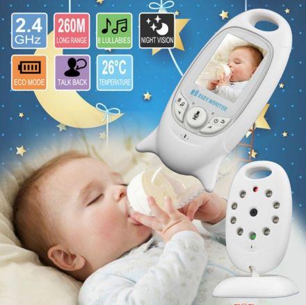Бебешки монитор VB601 Безжичен 2.0 инчов Аудио Видео Радио Бебешка камера Преносима бебешка електронна камера детегледачка